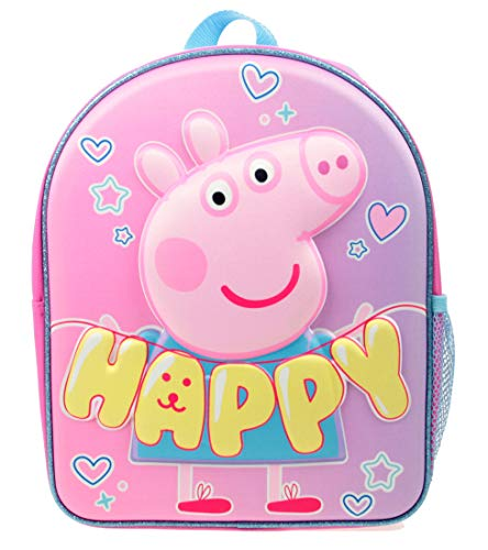 Girls Peppa Pig Happy EVA 3D Backpack Pink 7 litres