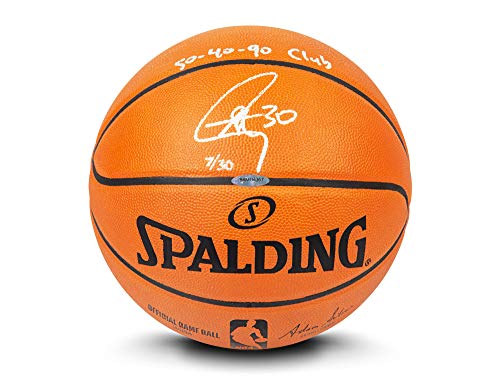 Cheapest Price! Upper Deck Stephen Curry Autographed & Inscribed Authentic Spalding Basketball -L30