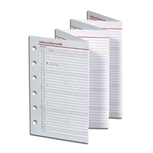 Ersatzkalendarium Pocket - A7, Jahresübersicht