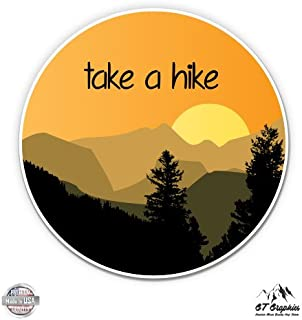 GT Graphics Take a Hike Mountains - Vinyl Sticker Waterproof Decal