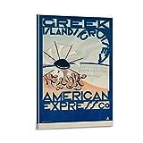 Greek Island Cruises American Express Co 1950s - Póster de pared (30 x 45 cm), diseño retro de viaje enmarcado a prueba de agua
