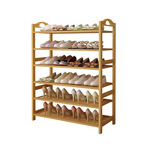 TONGSH Zapatero Banco Rack de Zapatos de bambú, Estante de Zapatos Simple y Multi Capa para Uso doméstico.