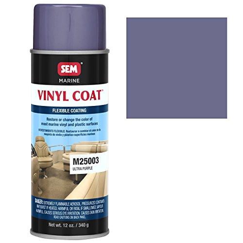 SEM M25003 Marine Ultra Purple Vinyl Coat Vinyl and Plastic Repair Coating for Marine Vinyl