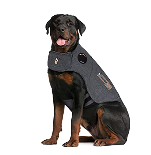 ThunderShirt Classic Dog Anxiety Jacket | Vet Recommended Calming Solution Vest for Fireworks, Thunder, Travel, & Separation | Heather Gray, X-Large