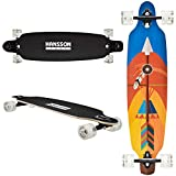 Hansson.Sports Top Longboard Komplett Skateboard Long Board 99cm...
