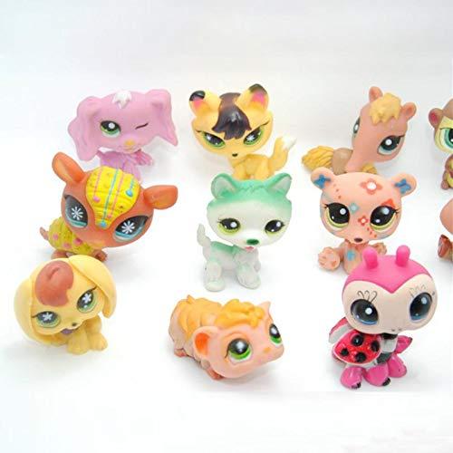 FINIMY Lps Littlest Pet Shop Toys 20 PiezasDeer Littlest Dolls Juguetes para niños Mini Pet Cute Pet Cat Shop