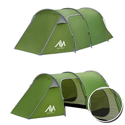 Tente tunnel familiale pour camping - 3 personnes, 2 pièces, ultra légère, avec entrée couverte,...