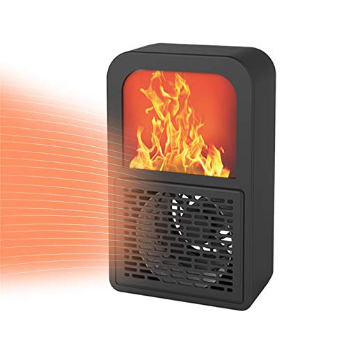 HEWYHAT Portable Electric Ceramic Space Heaters, 400W Personal Electric Fireplace Flame Heater for Indoor Use Home and Office
