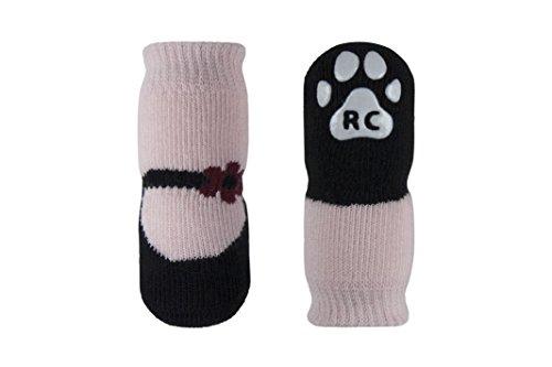 RC Pets PAWks Dog Socks, Paw Protection, Medium, Pink Mary Janes