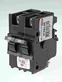 Connecticut Electric VPKUBIF220N 20 Amp Double Pole Thick Federal Pacific Circuit Breaker