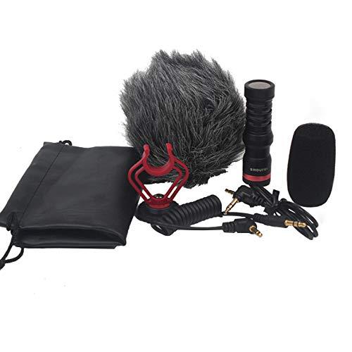 Gobesty Micrófono para cámara, condensador de vídeo, micrófono de...