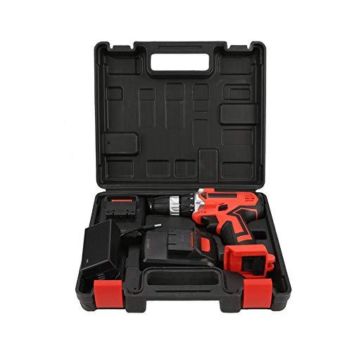 Destornillador eléctrico, batería de iones de litio de 21 V, taladro eléctrico inalámbrico, destornillador, herramienta profesional de mano de gran capacidad(EU Plug 220V)