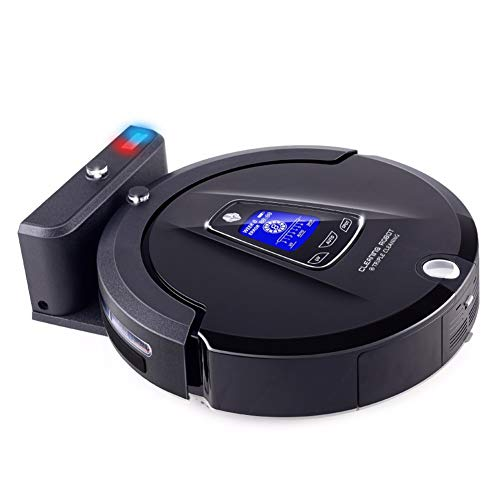 Affordable KJSDF Robotic Vacuum Cleaner, Wi-Fi und App High Suction, LCD Display, Self-Charging,Mult...