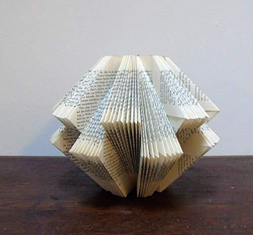 Dekoobjekt aus handgefaltetem Buch//Geschenk für Trauzeugen//Weihnachtsgeschenk