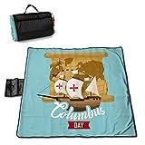 LUCKCHN Manta de picnic para día de Columbus, manta de playa, grande para...