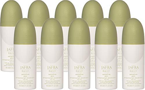 Jafra Antiperspirant für empfindliche Haut Deo-Roll-on, à60g - 10er Set