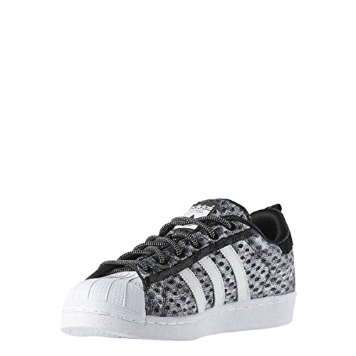 adidas Men's Superstar Glow in The Dark Low-Top Sneakers Black Size: 10