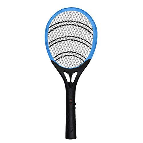OWEM Aufladbare LED-Moskito-Klatsche-Mörder-elektrischer Tennisschläger-Handschläger-Insekten-Fliegen-Käfer Wasp ideal für Zuhause oder Reisen,A