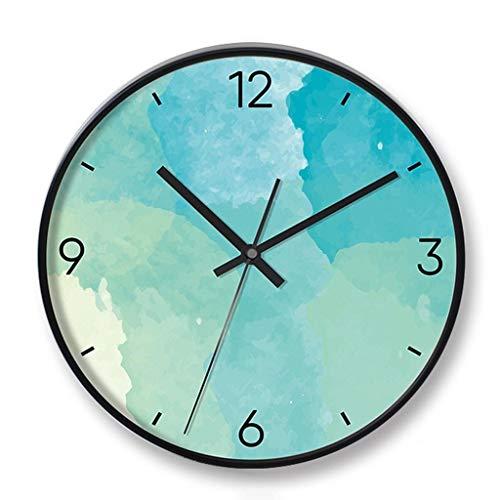 SMEJS Relojes, Reloj de Pared del Reloj de Pared silencioso de Barrido, de 12 Pulgadas del Cuarzo del Metal, con Pilas