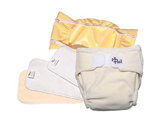 Pannolini lavabili ecologici PSS! NATURE - Pannolini in cotone con inserto estraibile - Kit da 2 pannoli - Made in Italy