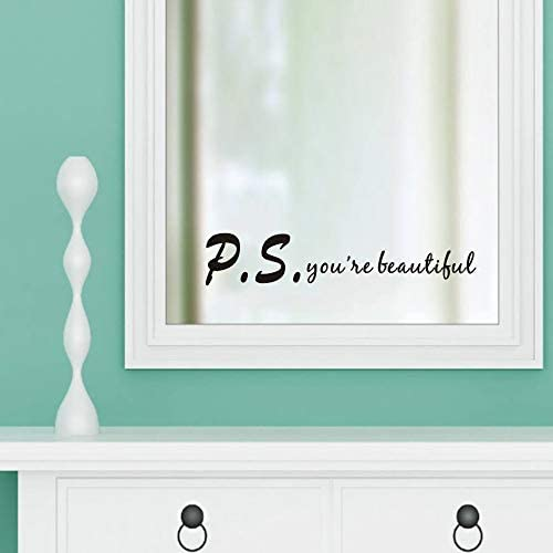 You re Beautiful Wall Decal Inspirational Quote Statement Vinyl Wall Sticker Bathroom Mirror product image