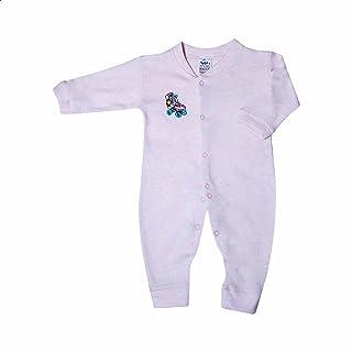 Papillon Long Sleeves Embroidered Rollerskate Snap-Button Bodysuit for Girls