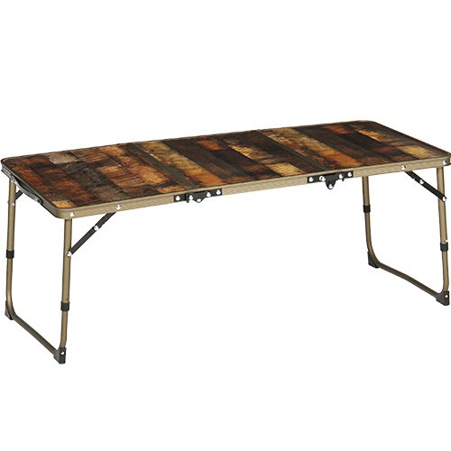 [クイックキャンプ] アウトドア 折りたたみ ミニテーブル ロング 90×40cm 収納袋付き ヴィンテージライン