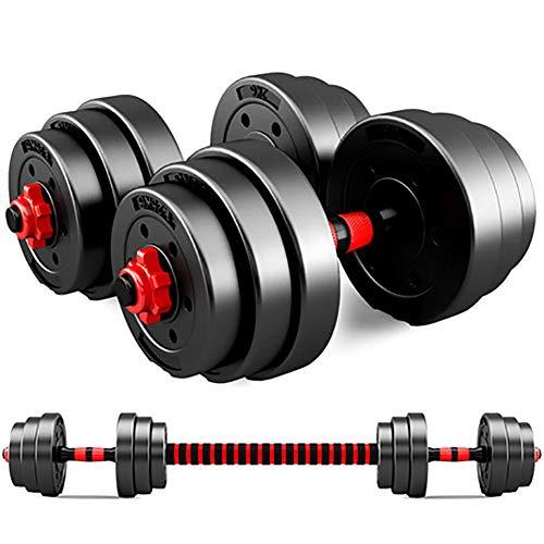 JESU 2in1 Hantelset, Einstellbare Hanteln 10-40 KG, Gewichte Hantelscheiben Krafttraining Hantelscheiben Home Gym,A Pair,10 kg