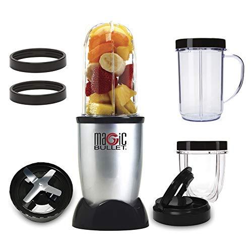 NutriBullet MBR1128 Compacte mixer met hoge snelheid, voor smoothies van groenten en fruit, BPA-vrij kunststof, 200 W, met recept in Spanje, vaatwasserbestendig, grijs