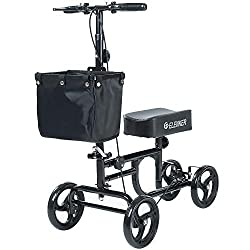 Elenker knee scooter steerable crutches