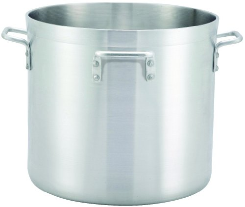 Winco Stock Pot with 4 Handles, 140-Quart