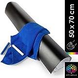 OfficeTree Magnetische Tafelfolie Selbstklebend - 50x70 cm großes dekoratives Memoboard - inklusive Tuch und 2x Kreide - Kreidefolie mit Magnetischer Haftkraft