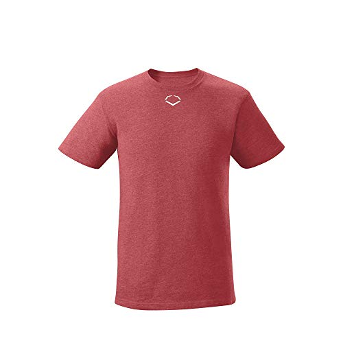 EvoShield Youth Short Sleeve Tee, Scarlet - Small