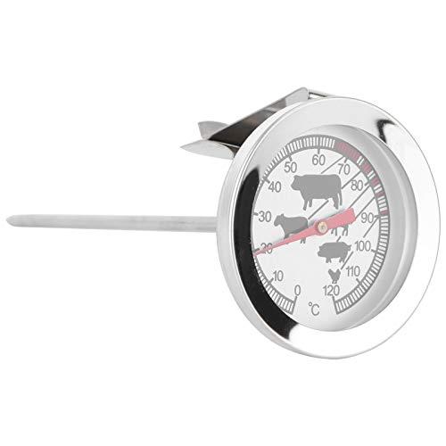 YARNOW Backofenthermometer Bimetallgrill Holzkohlegrill Rauchertemperaturanzeige Grillthermometer Kochthermometer Ziffernthermometer Edelstahl-Temperaturanzeige