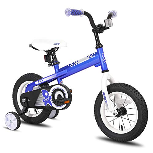 JOYSTAR 12 Inch Kids Bike with Training Wheels for 2 3 4 Years Old Boys, Toddler Cycle for Early Rider, Child Pedal Bike, Blue