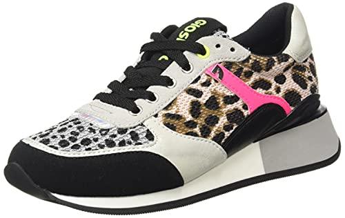 Sneakers con Rejilla, Animal Print Y TOQUES FLÚOR para Mujer Goshen