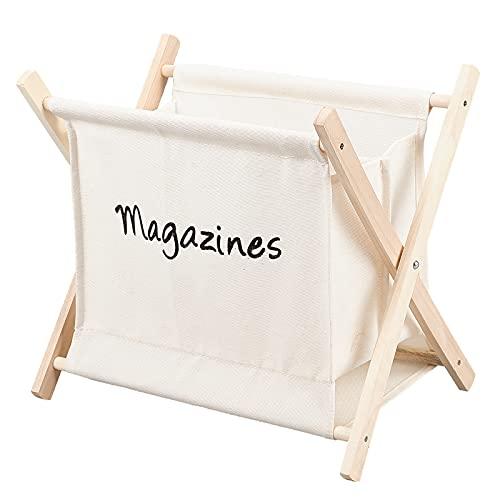 PH PandaHall 1pcs Small Storage Basket, 12.5x11x8.5 Inch X-Shaped Fold-Up Organizer Wooden Yarn Arts Caddy Basket Folding Basket for Desktop, Knitting, Yarn, Crotchet