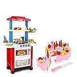 Maxiaoyun Kinderküche Spielzeug Männlich Mädchen Große Wasser-Spray-Küche Herd-Set Kinder-Simulation Play House Kochen Küche Spielzeug Entwickeln Kinder Phantasie und Kreativität