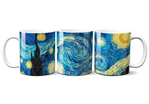 Planetacase Taza Desayuno Vincent Van Gogh La Noche Estrellada 330 ML