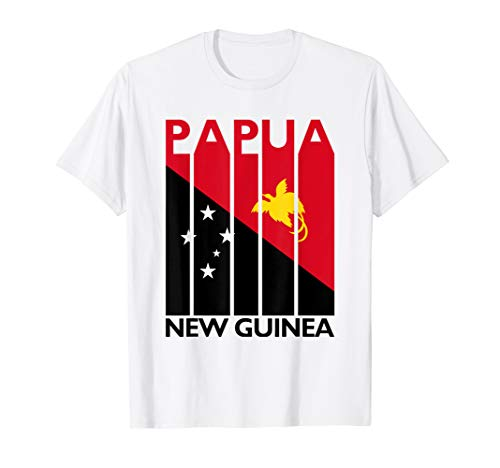 Papua New Guinea T-Shirt Vintage Papuan Flag Tshirt Travel