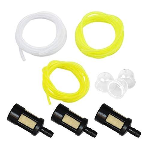 Línea de combustible-9 unids/set universal línea de combustible manguera filtro de cebador bulbos cortadora ajuste 1,5 m