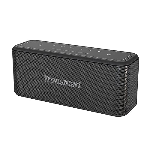 Tronsmart Mega Pro Altavoz Bluetooth 60W, Altavoz inalámbrico Portátil con TWS & NFC, Sonido Digital 3D, Panel Táctil, 10H de Reproducción Continua y Manos Libres para Fiesta, Hogar, Playa - Negro