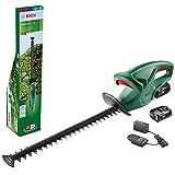 Bosch Home and Garden 0600849H04 Tijeras Cortasetos (2 baterías de 2,0 Ah, Sistema de 18 voltios, Longitud de la Cuchilla de 45cm, Embalaje en Caja), Multicolor