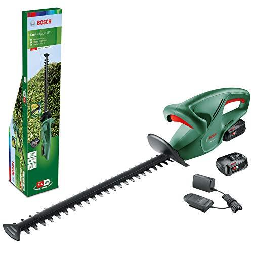Bosch Tijeras cortasetos a batería EasyHedgeCut 18-45 (2 baterías de 2,0 Ah, sistema de 18 voltios, longitud de la cuchilla de 45cm, embalaje en caja)