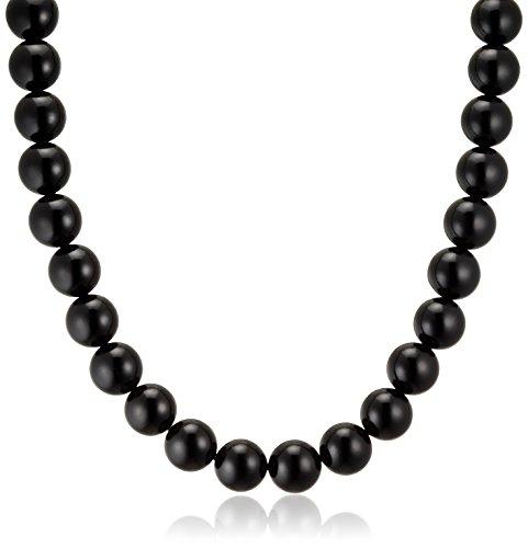 [ジュエリーシンワ] Jewelry Shinwa 天然ジェット(10mm丸玉)ネックレス42cmサイズ jn0212-42