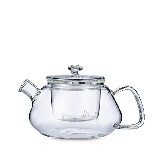 Glazen theepot 0.77 liter met deksel en anti druppel tuit