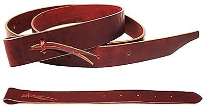 CHALLENGER Horse Western Saddle Latigo Off Billet & Cinch Strap 2-Piece Set with Holes 404RS03 from Challenger Horsewear