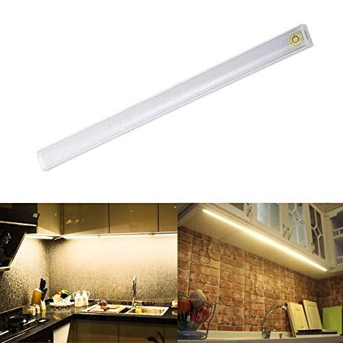 Debajo del gabinete Barra de luces LED Diseño táctil Tubo de luz LED 30CM Controlador de iluminación USB Powered Ward Strip Lámpara de iluminación blanca cálida para armario Armario Cabine Kitchent