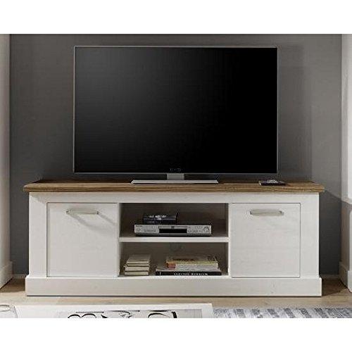 Wohnorama TV-Unterschrank Toronto von Trendteam Pinie Weiß Struktur by