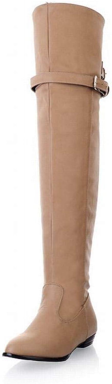 Stiefel Stiefel Stiefel Für Frauen, Herbst Und Winter Langlaufendes Knie, Warme Hohe Stiefel, Flache Stiefel, Hohe Schuhe Ms  ea6a35